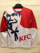 Free shipping 2016 New Fashion Mr . gugu miss . go 3d three-dimensional loose sweatshirt kentuckey kfc fashion iswag(China (Mainland))