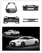 FRP Fiber Glass in Portion Carbon Fiber Body Kits Fit For 08-15 Skyline R35 GTR N Tune Style Bodykit Front Bumper Lip Side Skirt(China (Mainland))