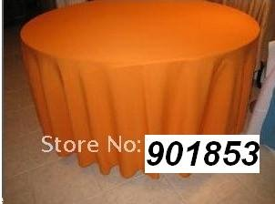 90INCH Orange POLY-VISA ROUND BANQUET TABLECLOTH(China (Mainland))