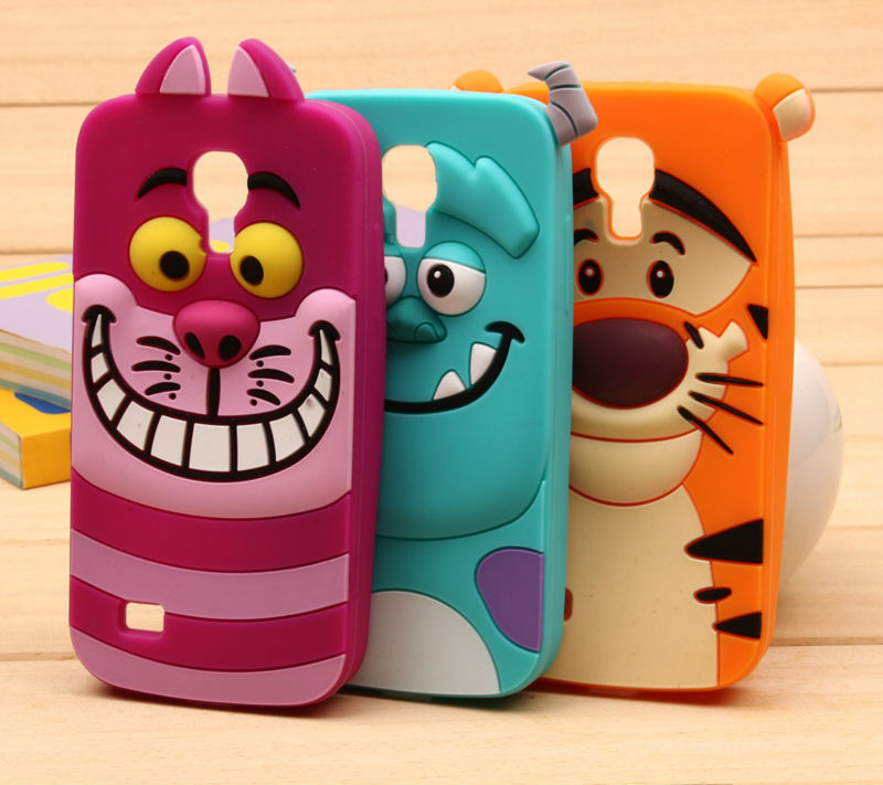 3D Monsters University sulley tiger Alice cat soft silicon back cover cute Cartoon phone case samsung galaxy s4 mini i9190 - LOVECOM Official Flagship Store store