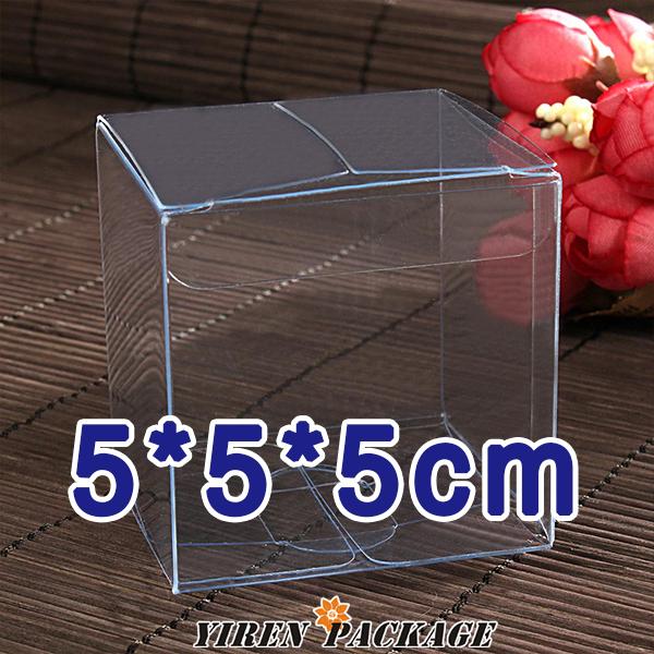 5*5*5cm box plastic/with protective film / cupcake boxes / packing box / pvc box /custom logo / 100% guarantee / gifts & crafts(China (Mainland))