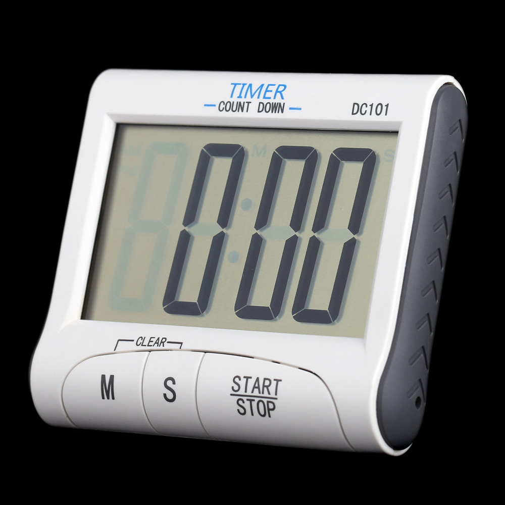 LCD Digital Kitchen Timer Countdown Cooking Timer Count Down Alarm Clock(China (Mainland))
