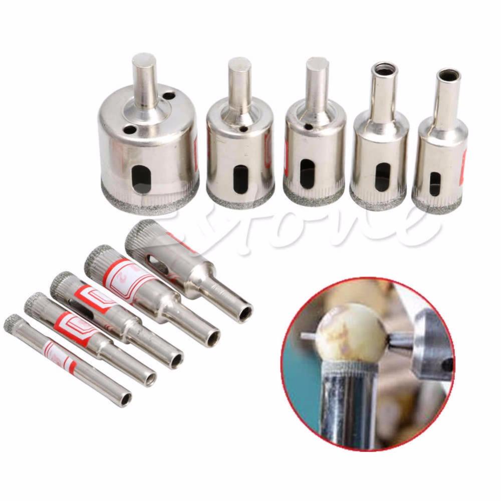 10 pcs Diamond tool drill bit hole saw set for glass ceramic marble 6mm-32mm<br><br>Aliexpress