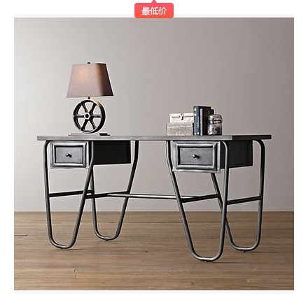 American Country Wrought Iron Wood Desk Coffee Table Computer Desk Desk Dining Table Dinette