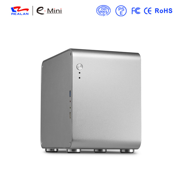 Realan htpc computer case , mini pc case , itx case aluminum(China (Mainland))