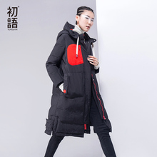 Toyouth Winter Coat Women 2016 Hoody Patchwork Solid Fashion White Duck Down Padded Long Parka Plus Size(China (Mainland))