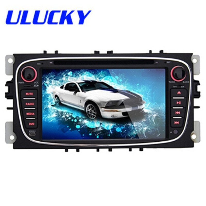 2din 7Android4.4 Car DVD Player For Ford Free 8GB MAP Card With GPS WIFI Bluetooth RK30661.6GHz Cortex A9 Dual CoreWith Canbus<br>