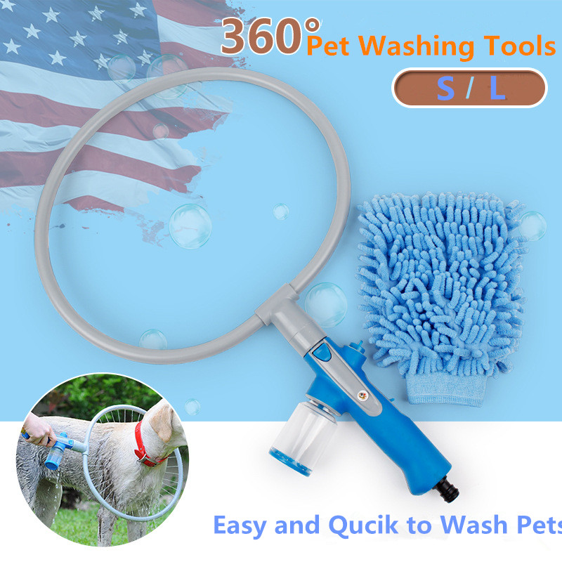 2016 Hot Sale Woof Dog Washer Creative 360 Degree Shower Wash Tools for Dogs Cats Pet Washing Cleaner Dog Accessories Pet Supply(China (Mainland))