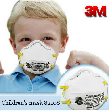 3m 8210S children's mask N95 dust masks respirator masks Particulate Respirator Adjustable noseclip protect second hand smoke(China (Mainland))