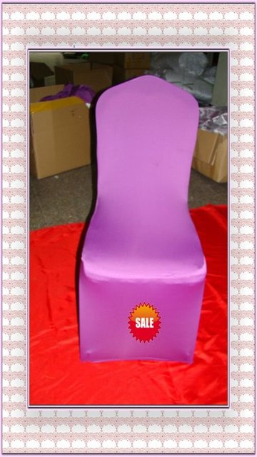 Free shipping -Top quality liliac spandex chair cover/lycra chair cover