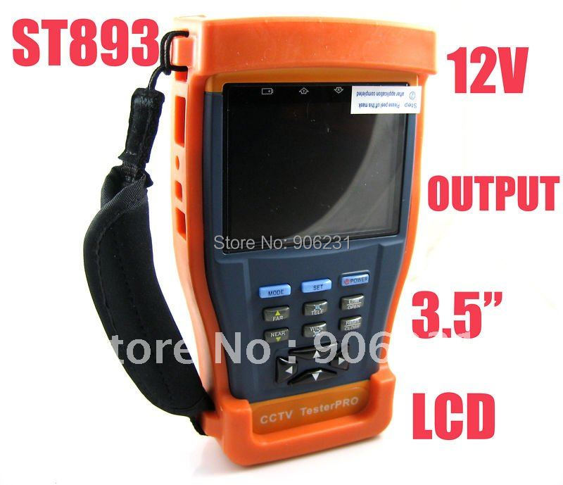 "Free shipping!ST893 Newest 3.5"" LCD Monitor CCTV Camera Test monitor Video Tester(China (Mainland))"