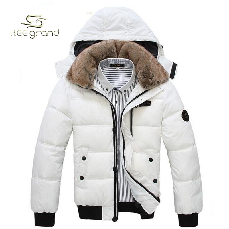 Thick Warm Men Winter Coat 2015 Hot Fashion Jacket Down Coat Men Parka Outdoor Wear High Quality Plus Size Black White MWM001(China (Mainland))
