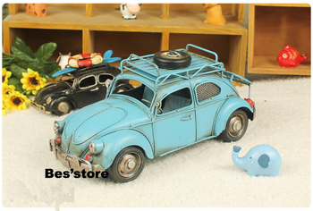 Free shipping hot selling matel blue Beetle car model with Frame