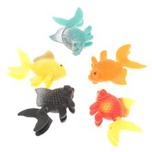 EWS 5pcs artificial plastic ornament aquarium fish - goldfish(China (Mainland))