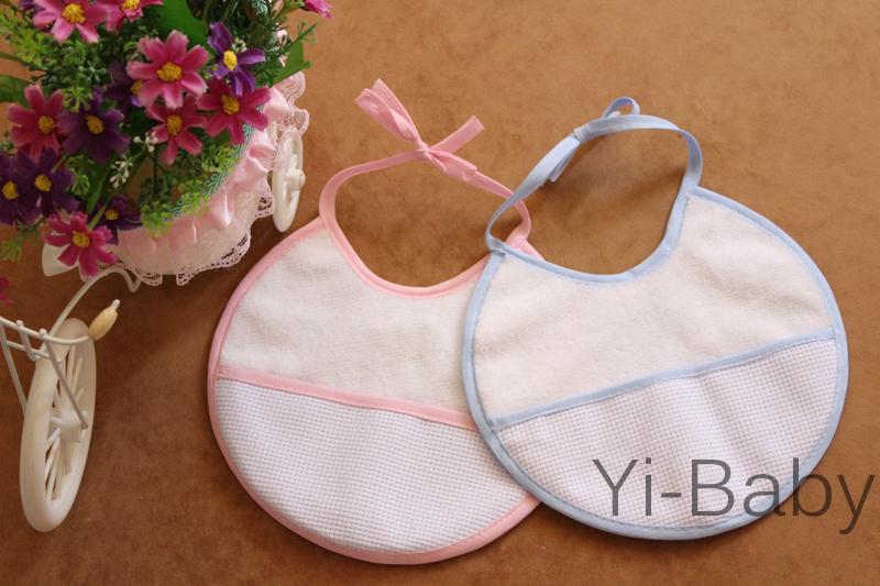 12PCS/Set YB0011 Baby waterproof bib Infant saliva towels Burp Cloths Cross stitch bib Baby bib Free shipping(China (Mainland))
