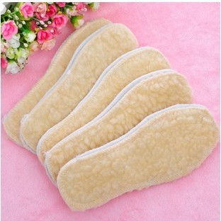 Free shipping Large size berber fleece winter warm boots wool insole pad artificial thickening warm boots hot sale yellow pad(China (Mainland))