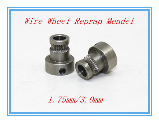 3d printer feed wheel extruded wire wheel push wire wheel feed rollers feed rolls reprap Mendel
