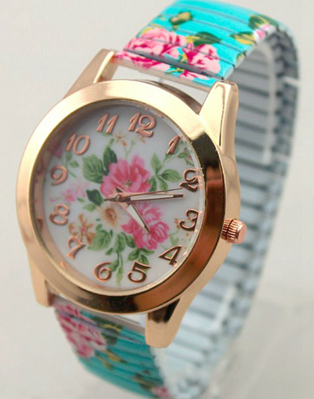 freeshipping 500pc/lot hot sale fashion geneva style flower promotion watch,precise quartz movement,plastic printed elastic band<br><br>Aliexpress