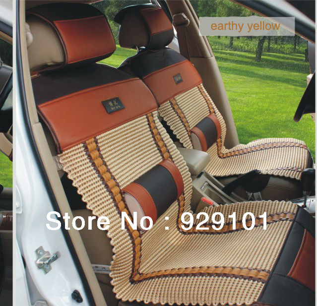 montage pu and ice silk fashion summer car seat. Black Bedroom Furniture Sets. Home Design Ideas