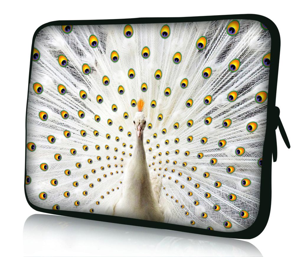 الطاووس الأبيض 17quot 17.3quot soft محمول الأكمام القضية للحصول على حقيبة سوني ايسر ديل حصان ibm لينوفو