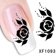 1Pcs Nail Art Water Sticker Nails Beauty Wraps Foil Polish Decals Temporary Tattoos Watermark + Free Shipping (XF1093)