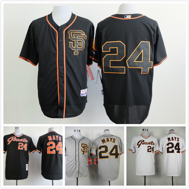 SF/ San Francisco Giants #24 willie mays 2015 New Arrival Throwback Baseball Jersey All are stitched Wholesale(China (Mainland))