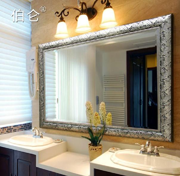 Decorar Baño Antiguo:color antiguo espejo del baño espejo decorar con marco 5 mm plata