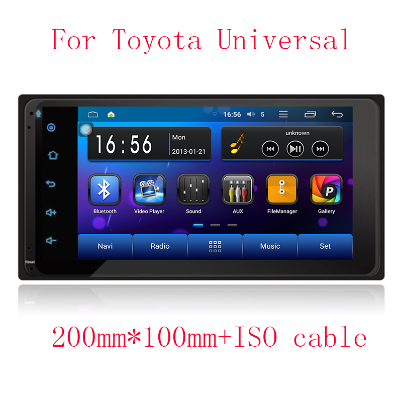 3G/4G Android 5.1.1 2 DIN Corolla RAV4 Camry Car DVD GPS for Toyota Terios Old Prado Universal radio wifi Capacitive 1024*600(China (Mainland))