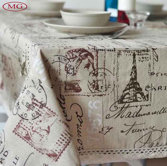Retro European Style Cotton Linen Lacework Table Cover Tablecover Home Restaurant Bar Cafe Table Cloth Tablecloth(China (Mainland))
