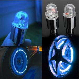 New Colorful Bike Bicycle Car Wheel Tire Tyre Valve Cap Neon LED Flash Lights Lamp Novelty Bicycle Wheel Accessories(China (Mainland))