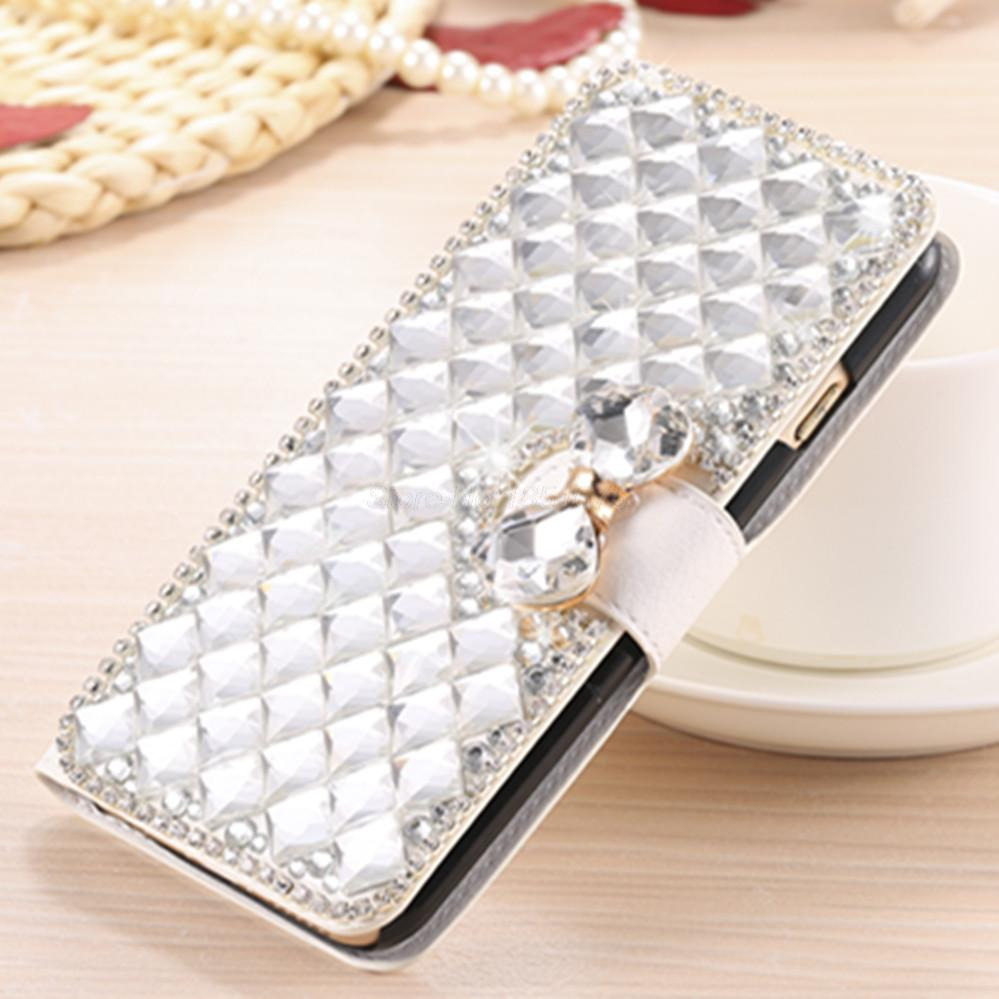 Luxury Bling Crystal Rhinestone Diamond Flip Leather Case Cover for Blackberry Classic Q20 Kickstand Credit Card Phone Cases(China (Mainland))