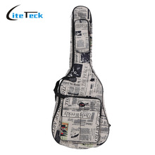 """600D Water-resistant 41"""" Guitar Bag Oxford Cloth Gig Bag Guitar Carrying Case Newspaper Style Double Stitched Padded Straps(China (Mainland))"""
