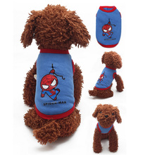 Buy Super heroes Pet Dog Clothes Vest Superman Spider Man Ironman Captain America Batman Pets Dogs Cloth Clothing Shirt Coat Costume for $3.95 in AliExpress store