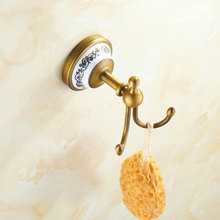 AP2 Series Antique Brass Brushed Bathroom Hardwares Accessories Robe Hooks Clothes Hook wall mounted 7001