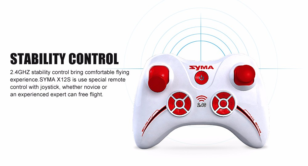Original SYMA X12 6 Axis Gyro Remote Control Airplane 2.4GHz 4CH Headless Mini Quadcopter Indoor RC Nano Drone Children Toys