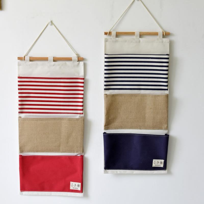 ZAKKA Style Multifunction Plain Striped Pockets Pouch ...