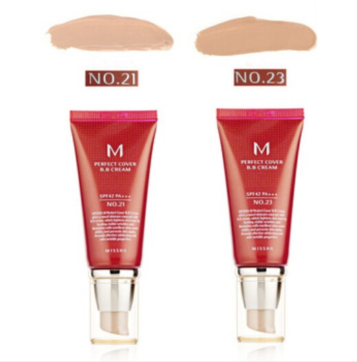 Hot One pcs MISSHA BB Cream Makeup MISSHA SPF42 50ml Perfect Cover BB Cream Oil-control Whitening With Original Package(China (Mainland))