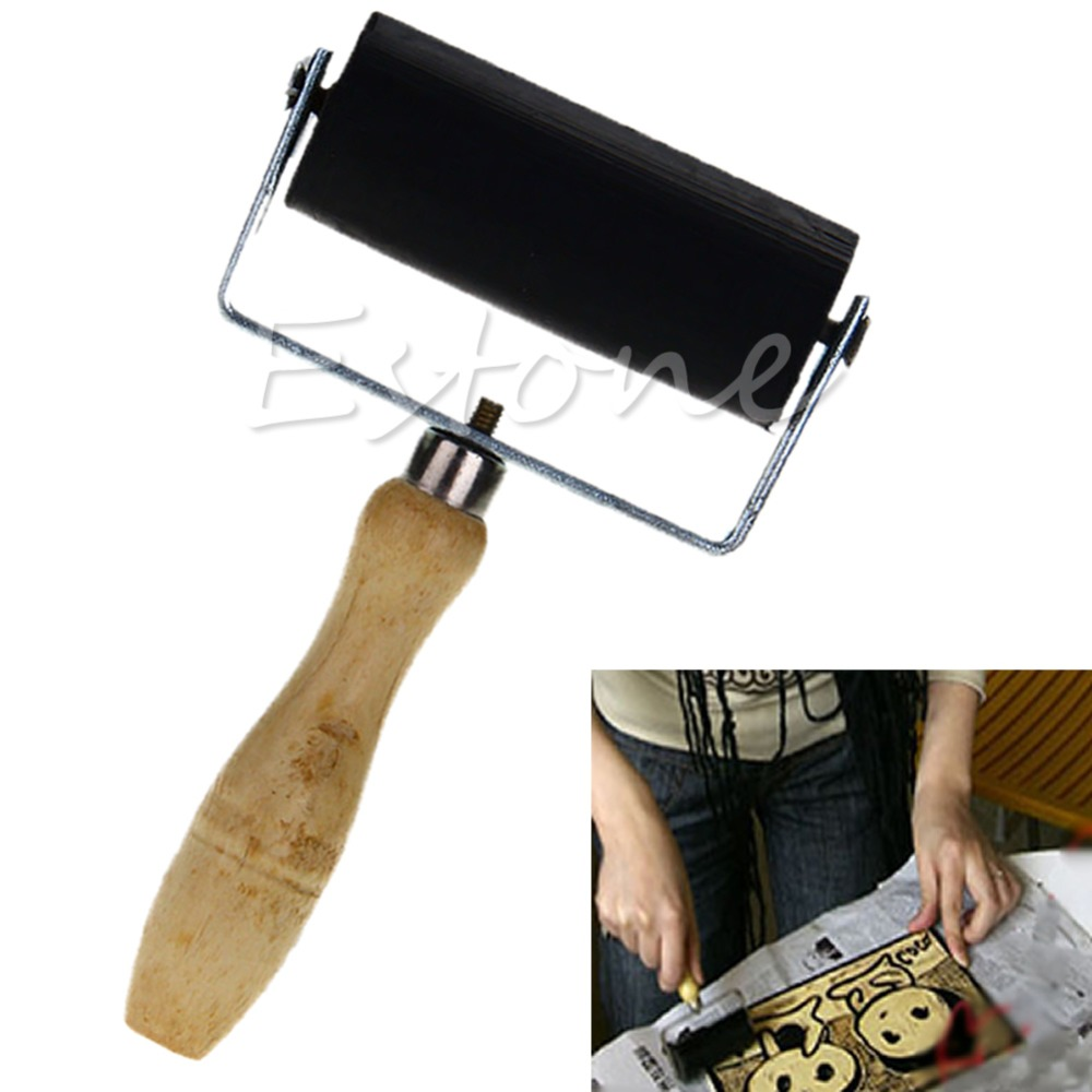 6cm Professional Brayer Ink Painting Printmaking Roller Art Stamping Tool-Y103<br><br>Aliexpress