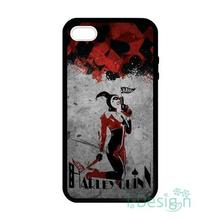 Fit for iPhone 4 4s 5 5s 5c se 6 6s 7 plus ipod touch 4/5/6 back skins cellphone case cover harley quinn