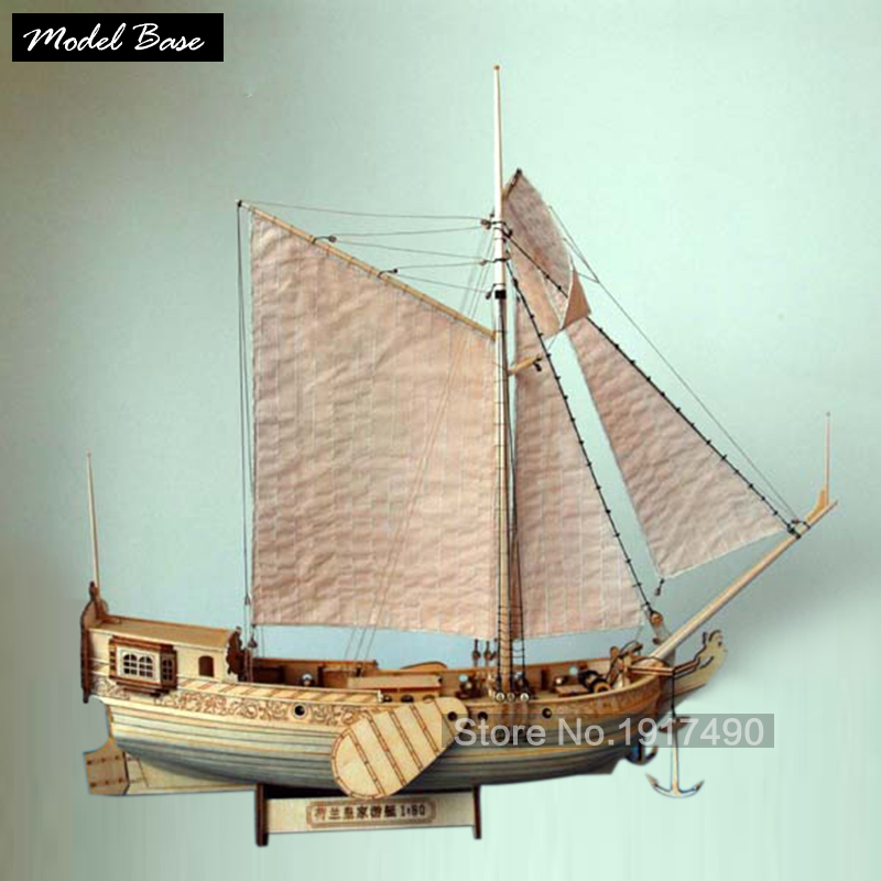 Ship Model Kit Train Hobby Wooden Ship Model 3d Laser Cut Scale 1/80 Royal Netherlands Yacht And Boats Diy Yacht Model Kits(China (Mainland))