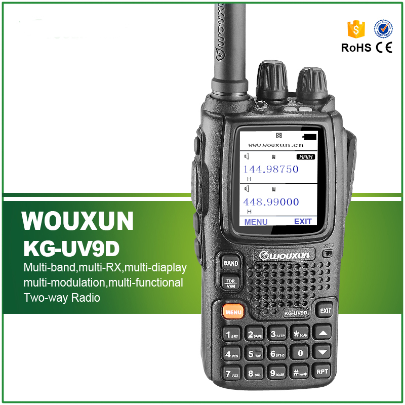 New Arrival Original WOUXUN KG-UV9D Walkie Talkie with Seven Bands Receiption(China (Mainland))