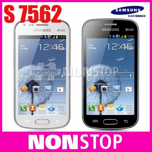 s7562 Original Phone Samsung Galaxy S Duos S7562 dual sim cards phone 3G WIFI GPS Android phones Unlocked refurbished(China (Mainland))