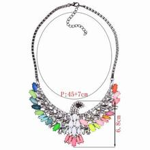 2014 New Fashion Lady s Alloying Galaxy Eagle Pendant Necklace Women Club Statement Jewlery Accessories Gift