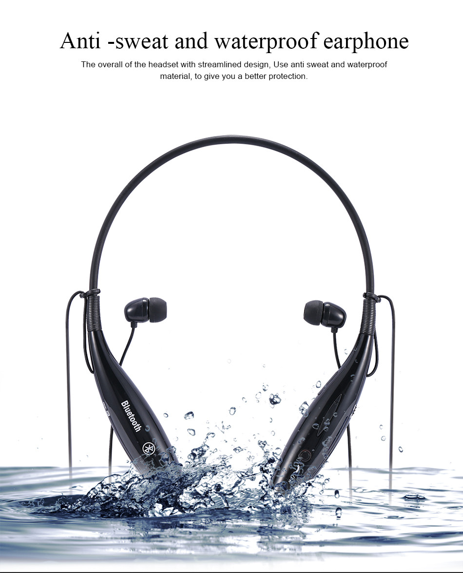 Fashion HV-800 Wireless Bluetooth Headphones Sports Stereo Earbuds Headset for iPhone Samsung LG Xiaomi with Neckband Style New