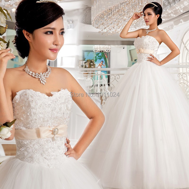 Full size 2014 new pearl drop white luxury beading wedding for Full size wedding dresses