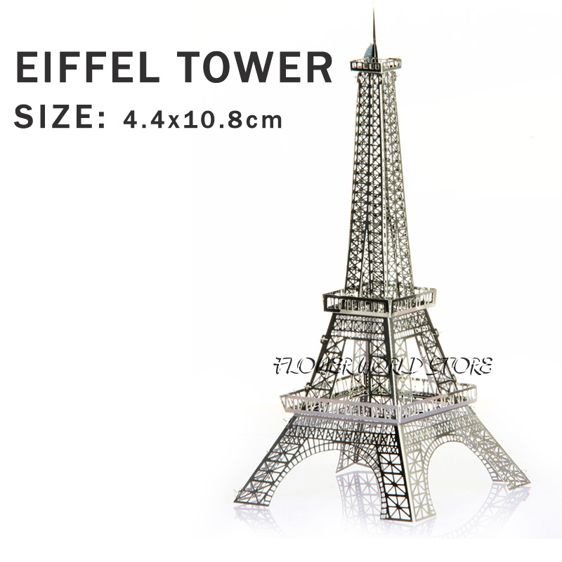New creative Eiffel Tower 3D puzzles 3D metal Building model Creative DIY Iron tower Jigsaws Adult/Children gift toy Tower Paris(China (Mainland))
