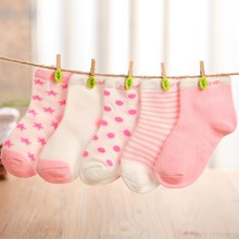 5 Pairs 1-10 Years Children Short Socks Kids Girl and Boy Cotton Floor Socks Baby Newborn Casual Socks(China (Mainland))