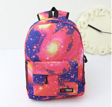20PCS/lot Stars Universe Printed Backpack