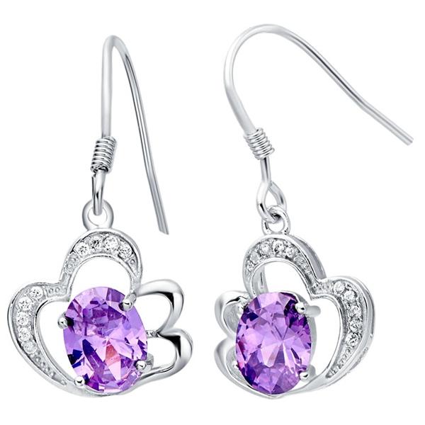 New Arrival Wedding Korean Style Earrings For Women 925 Sterling Silver Jewelry Cz Diamond Joyas