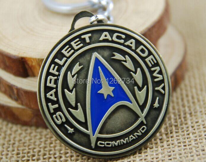 Free Shiping Arrival Star Trek Shield Metal Keychain Pendant Chaveiro Action Figure Keyring(China (Mainland))